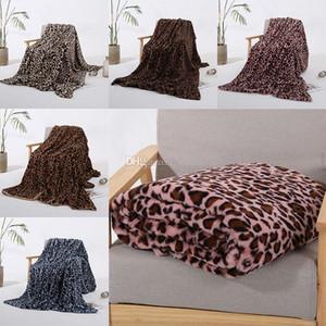 Style 5 couvertures d'hiver chaud Couverture Rose Brown Kaki Leopard femmes impression en peluche couverture de bébé Chaise Canapé Home Décor WX9-1799