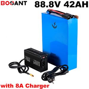 88.8v 40Ah batteria al litio ricaricabile 24S 12P 88.8v 8000w 5000w batteria elettrica della bici per Sanyo 18650 cella con 8A caricatore