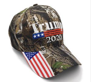 Kamuflaj Donald Trump şapka ABD Bayrağı beyzbol şapkası Keep Amerika Büyük 2020 Şapka 3D Nakış Yıldız Harf Kamuflaj ayarlanabilir Snapback ücretsiz gemi