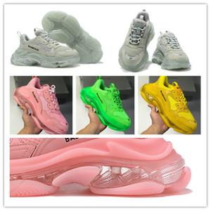 Sıcak Satış 2019 Orjinal Triple-S Sneakers Hava Yastık ayakkabı erkekler Kadınlar Tenis Spor ayakkabılar buharı Ayakkabı (Çanta ile) A166