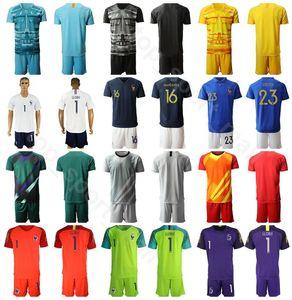 Вратарь сборной Франции Уго Льорис 1 ГК вратарь футбол Джерси установить 16 Стив Манданда 23 ареолы футбол комплекты рубашки униформа желтый черный синий белый