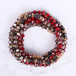 KELITCH rilievo di cristallo collana doppio filo Normativa collana Boho Tribal Donne lungo girocolli Accessaory