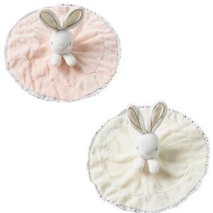 23cm * 23cm Baby-Baby-Bad-Nursery Velvet Sicherheitsdecke nette Kaninchen-Plüsch-Spielzeug-Beißring Spielzeug für Neugeborene SleepingPlaying LA188