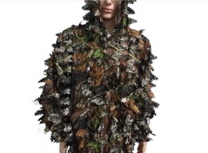 Wool Camouflage 5 Piece Suit Camouflage Auspicious Hunting Bird Watching Live CS Camouflage Clothing One Size