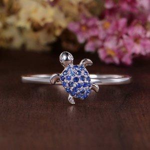 Moda Retro 925 Gümüş Kaplumbağa 6-10 Yüzük Mücevher Aksesuarlar El Yapımı Şanslı Muska Hediyeler Her Kadın