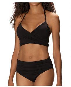 Female Beach Swimwear Women Designer 2pcs Mid Waist Bandage Bikinis Suits Sexy Lady Bikinis Summer Bathing Suit