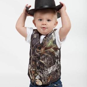 Vêtements formels Camo garçon Camouflage arbre réel Gilet Pour Gilet de mariage mignon enfants costumes de bébé Custom Made