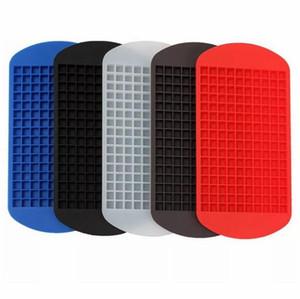 160 Grids cubos de gelo Criador Mini Silicone Ice Cube Moldes Mold Bandeja Pudim Ferramenta de acessórios de cozinha 6 cores Escolha 24 * 12 centímetros