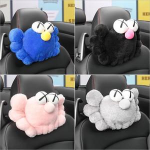 Fontes de viaturas na moda Sesame Street KAWS Headrest Car Head Pad assento confortável Tampão antifadiga massagem no pescoço Almofadas