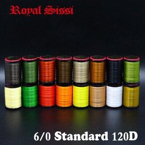 8spools Royal Sissi / set légèrement cirés 6/0 fil de montage multi filaments de polyester 120D plat fil de montage en bobines standards