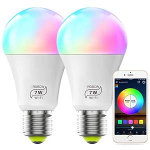 스마트 렉 호환 전구 알렉스와 호환 A19 7W (60w 상당) 다색 조광 RGBCW 무선 LED 조명,