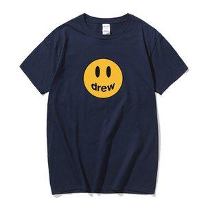 여름면 짧은 소매 저스틴 비버 티셔츠 남성 패션 여름 힙합 스트리트 티셔츠 목화 짧은 소매 티셔츠 남성 상판