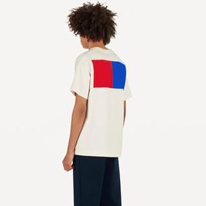 19SS Monogramm-Buchstabe Geometrischer gedruckte Art und Weise T-Shirt Sommer-Breathable T Alltag Einfach Männer Frauen Straße Short Sleeve