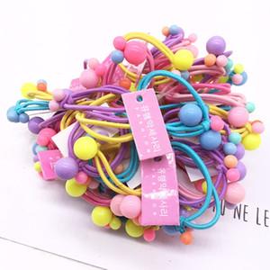 Toptrimmer 2020 imprimé floral cheveux Elastique Elastics cheveux bande couleurs assorties pour enfants Baby Girls Floral Imprimer