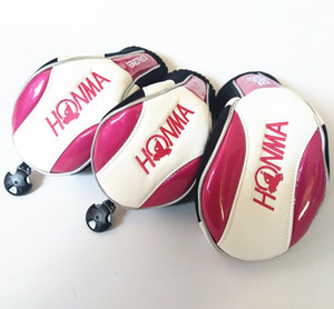 Women Golf Headcover for Driver Fairway Honma Golf Woods Cover 1# 3# 5# Pink Color