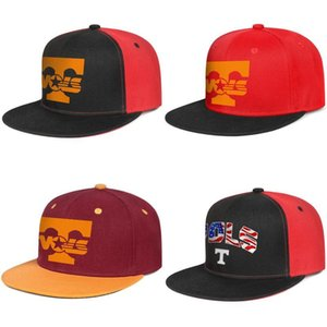 Tennessee Volunteers football logo мужские и женские snap back baseballcap cool running Hip Hopflat brimhats USA flag Effect Flag Football