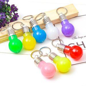 Mini-Birnen-Fackel Keychain Farbwechsel LED-Licht Schlüsselanhänger Mini LED Schlüsselanhänger-Birnen-bunte Lichter Schlüsselring-Birnen-Spielzeug-Geschenk BC BH1093