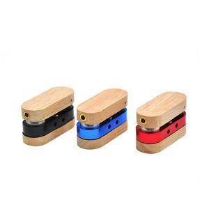 Moda Katlama Herb Borular Boru Açık Seyahat Duman Araçları Yeni Geliş 6 5yh E1 Sigara Ahşap Metal Alaşım Mini şekli oval