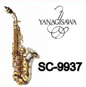 YANAGISAWA Saxofón Soprano Curvado SC-9937 Níquel Plata Latón Saxo Parche Parches Almohadillas Cañas Cuello Curva gratis
