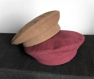 Militar espaço Cotton Hat Mulheres Cadeia Marines Militar Feminino Outono-Inverno masculino Militar Caps Beret Hat Pilot Cap Capitão Chapéu