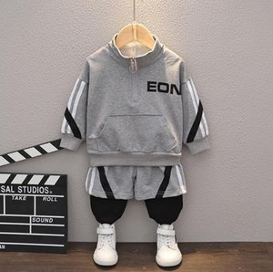 2020 new boys' Autumn suit children's standing collar leisure sports long sleeve two piece children's foreign trade children's wear