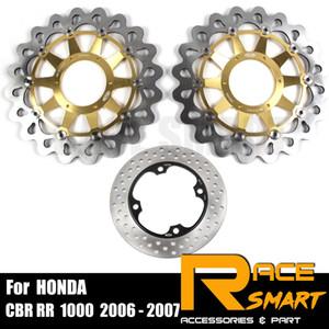 Pour CBR RR 1000 2006 - 2007 Moto CNC frein avant et arrière flottant disque de frein Moto rotors à disques CBR 1000RR