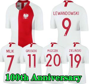 2019 폴란드 축구 유니폼 판 100 주년 (19 개) (20) 폴란드 MILIK 레 완도 우 스키 PISZCZEK 뉴저지 유럽 컵 축구 셔츠 유니폼