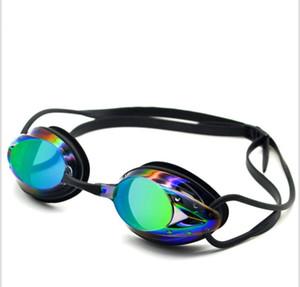 Новый кадр плавательные очки водонепроницаемый туман доказательство высокого разрешения Electroplated противотуманным УФ Protecion плавательные очки для взрослых Мужчины Женщины