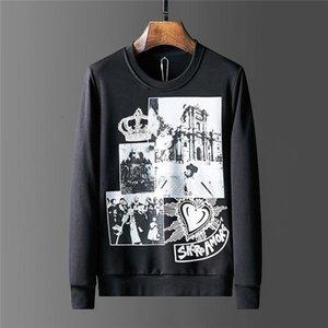 Europe and the United States 20ss men's fashion street hoodie hoodie off graffiti oil painting arrows wool hoodie 1010 YLJ9