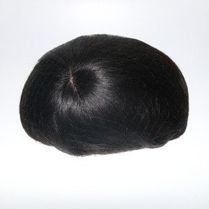 100% Human hair Mens Toupee Silk Base With Swiss Lace In Front And Thin Skin At Back Men Toupee Remy Hair Systems Repalcment