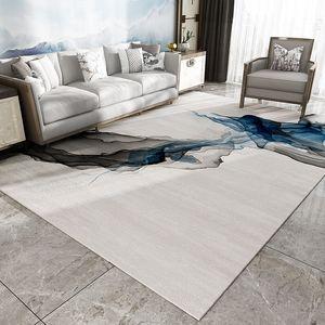 Скандинавские Современные ковры для гостиной в китайском стиле Ink Drawing Спальня Ковер Коврики Кабинет Диван Журнальный столик Мат Большой