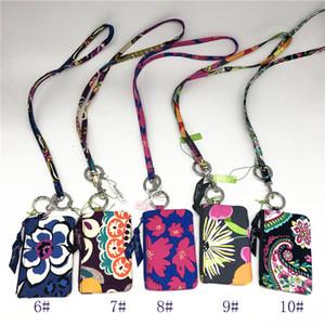 Retraité cas modèle ID Zip e avec Longe dans les TN-O Set Cotton Cases ID Zip pour Kids School travail Floral ID porteurs Longe