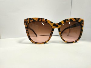 Full-Frame-helle Nickel-Metallhydrid hell schwarz Transferpapier mit Tigermuster Sonnenbrille Frauen Frauen Sonnenbrille Katzenauge übergroßen Sonnenbrillen