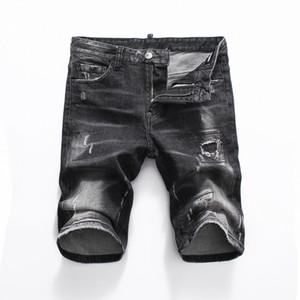 2020 Италия Мода Стиль Designer Summer Mens Casual джинсовые шорты Джинсы Марка Вышивка Hip Denim летом мужские джинсовые шорты мужские одежда