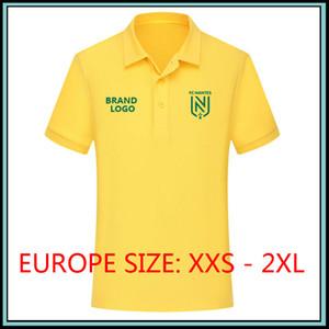 2019 Ligue 1 FC Nantes Polo da calcio Polo sportiva 2019 2020 FC Nantes Polo gialla da calcio Maglia da calcio maglia da running Maglia da corsa