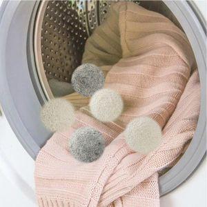 2019 New Wool Trockner Balls Premium wiederverwendbare natürliche Weichspüler 2,75 Zoll 7 cm Static Reduziert Hilft trockene Kleidung in der Wäsche schneller