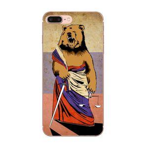 Custom Bear Russia Mobile For Huawei Honor Mate Nova Note 20 20s 30 5 5I 5T 6 7I 7C 8A 8X 9X 10 Pro Lite Play Soft TPU Mobile Phone Grkrk