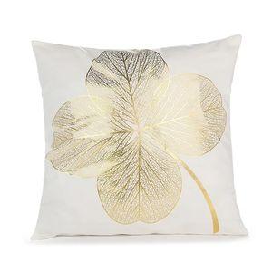 Basit geometrik yaprak bronzlama yastık kılıfı yaratıcı ofis kanepe yastıkları yağ atmak yastık lüks yastık yastık kılıfı Q2 nesil