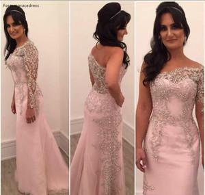 Designer una spalla Madre dei Cristalli sposa veste Beads formali madrina del partito di sera ospiti di nozze Gown Plus Size