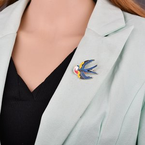 Encantador Flying Swallow Broche Aves Golondrina Mujeres Joyería Del Banquete Del Partido Accesorios Esmalte Animal Broches Pins b37 b38