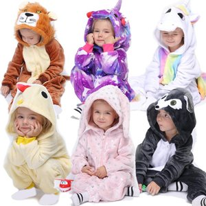 Unicorn Kigurumi Pajamas For Children Baby Girls Pyjamas Boys Sleepwear Animal Lion Deer Licorne Onesie Kids Costume Jumpsuit