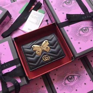 caixa de borboleta decoração presente nova moda de luxo projeto carteira carteira de couro de luxo carteira de produção de luxo hardware metal