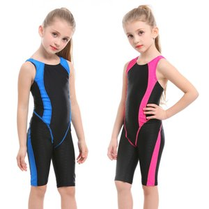 New Girls Swimwear Professional Swimming Suit For Girl Competition Swimsuit Beach Sport Bodysuit Kids Knee Bathing Suit