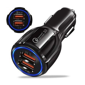 3.0 car charger dual port car charger dual USB fast charging head 3.1A cigarette lighter car charger 3.0