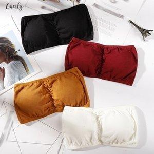 Strapless Bras For Seamless Women Soft Modal Solid Colour Padded Sexy Bra Seamless Back Hooked Lingeries Bralette Bh Biustonosz Sujetador