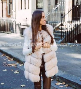 FURSARCAR Echt Natürliche Pelzweste Frauen Fuchspelz Mantel 2019 neue Luxus Weibliche Jacke Warme Dicke Lange Winter Weste