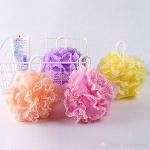 Dantel Banyo Sünger Mesh Pouf Büyük Kese Duş lif kabağı Loofa Vücut Scrubber Banyo Ball Mesh Süngerler
