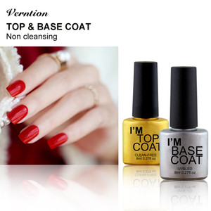 Verntion ногтей REINFORCE Base Top Coat Lacquer Long Lasting Гель Лак 8ml MaVarnish Прозрачный UV LED замочить от Primer