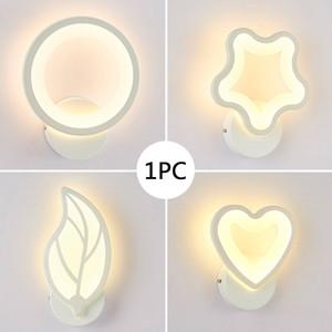 Instalação Fácil Decoração Casa Moderna Simples acrílico branco quente 220V 11W Crianças Quarto Led Corredor Night Light Lâmpada de parede Para Quarto