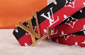 2020 correas de diseño de alta calidadHombres del LV Jeans cinturones cinturones Cummerbund Para los hombres de las mujeres de la hebilla